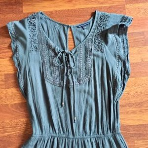 American Eagle Outfitters Pants - Medium American Eagle Gray Romper
